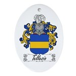 Tellesio Coat of Arms Oval Ornament