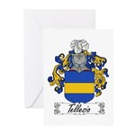 Tellesio Coat of Arms Greeting Cards (Pk of 10