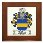 Tellesio Coat of Arms Framed Tile