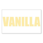 Vanilla Rectangle Sticker