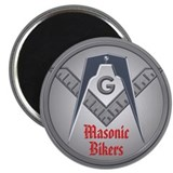 Masonic Bikers Fridge Magnet