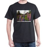 Reach road lupines Black T-Shirt