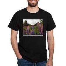 Reach road lupines Black T-Shirt