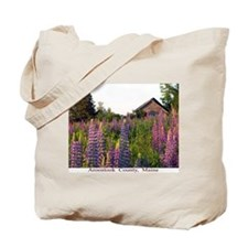 Reach road lupines Tote Bag