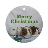 Guinea pig Christmas Ornament (Round)