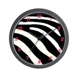 Cute Zebra print pattern Wall Clock