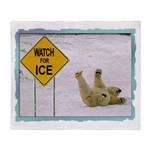 Watch for Ice Throw Blanket