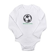 Soccer Kick - Long Sleeve Bodysuit (Green)