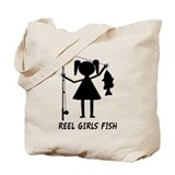 Reel Girls Fish Tote Bag