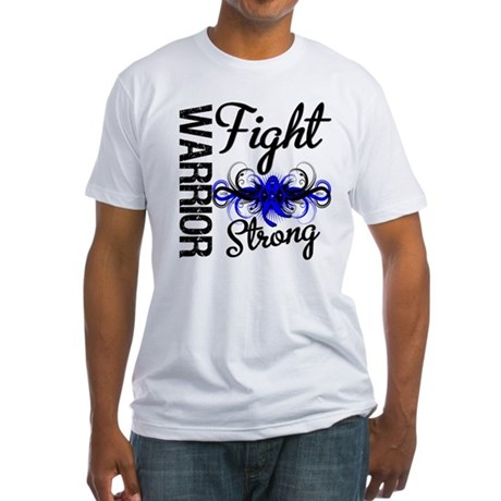 Warrior Colon Cancer Fitted T-Shirt