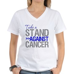 Take a Stand Colon Cancer Women's V-Neck T-Shirt