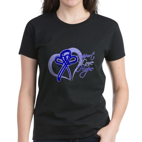 Support Hope Colon Cancer Women's Dark T-Shirt
