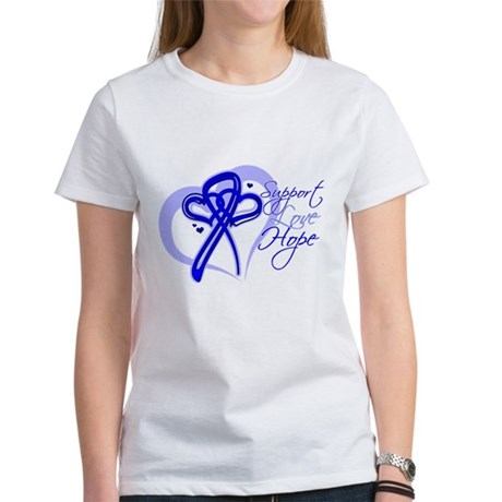 Support Hope Colon Cancer Women's T-Shirt