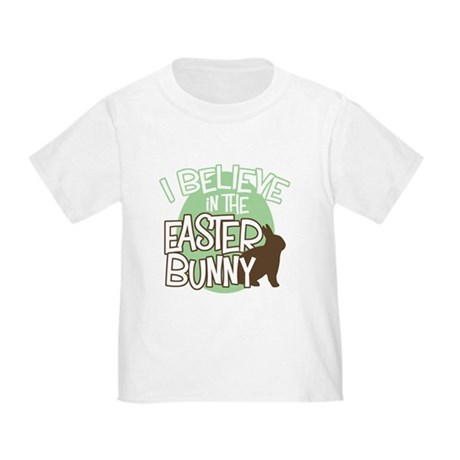 Believe Easter Bunny Toddler T-Shirt