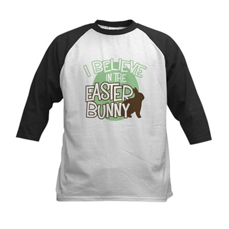 Believe Easter Bunny Kids Baseball Jersey