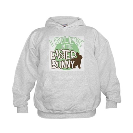 Believe Easter Bunny Kids Hoodie