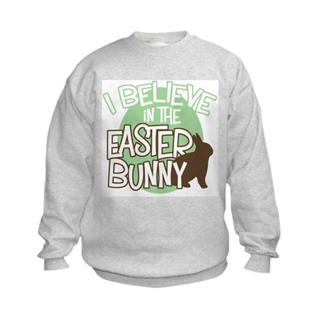 Believe Easter Bunny Kids Sweatshirt