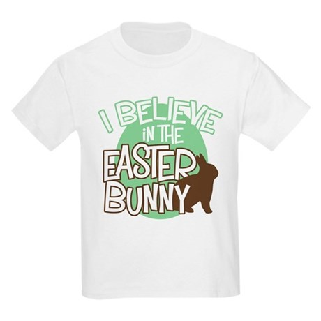Believe Easter Bunny Kids T-Shirt