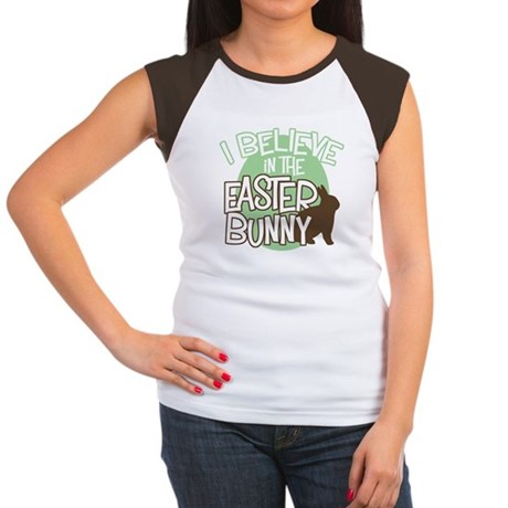 Believe Easter Bunny Women's Cap Sleeve T-Shirt
