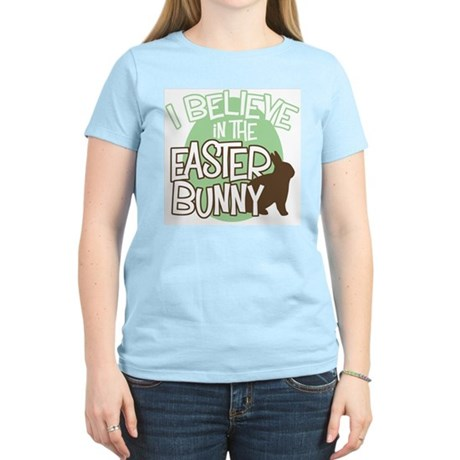 Believe Easter Bunny Women's Light T-Shirt