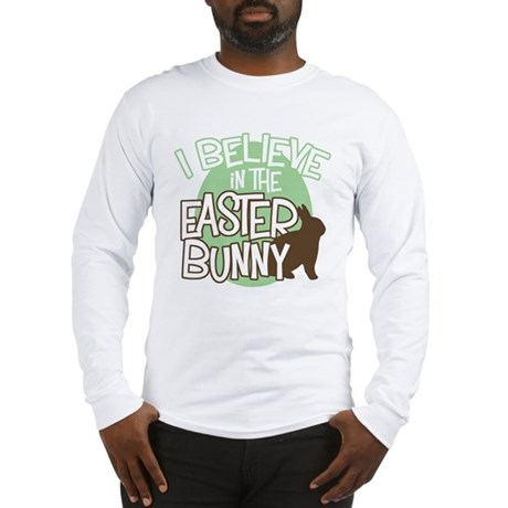 Believe Easter Bunny Long Sleeve T-Shirt