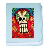 Day of the Dead Sugar Skull 1 baby blanket