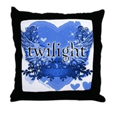 Twilight Midnight Blue Throw Pillow