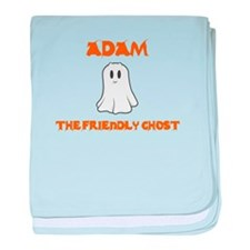 Adam the Friendly Ghost baby blanket