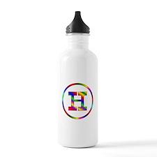 Letter H Water Bottle