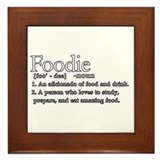 Foodie Defined Framed Tile