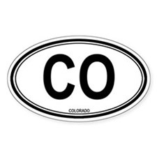 Colorado (CO) euro Oval Decal