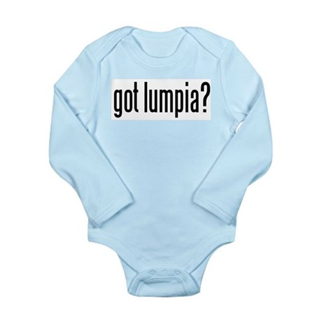 got lumpia? Long Sleeve Infant Bodysuit