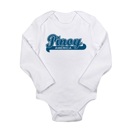 Pinoy America Long Sleeve Infant Bodysuit