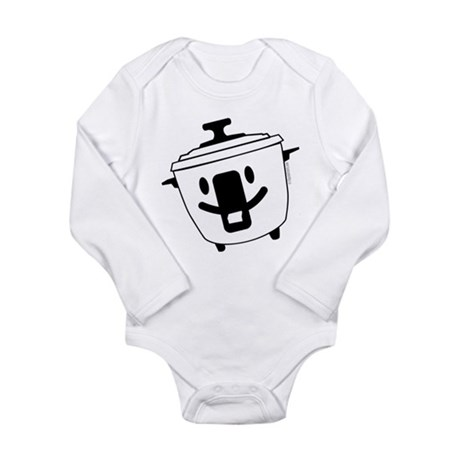 The Happy Rice Cooker Long Sleeve Infant Bodysuit
