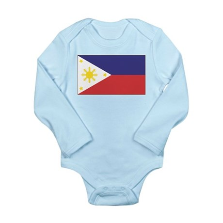 Philippine Flag Long Sleeve Infant Bodysuit