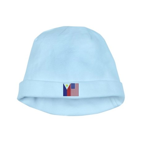 Philippine Flag & US Flag baby hat