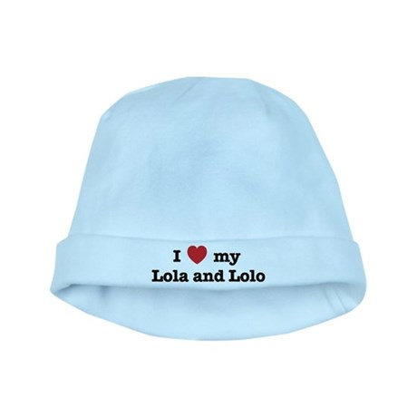 I Love my Lola and Lolo baby hat
