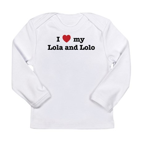 I Love my Lola and Lolo Long Sleeve Infant T-Shirt