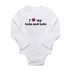 I Love my Lola and Lolo Long Sleeve Infant Bodysui