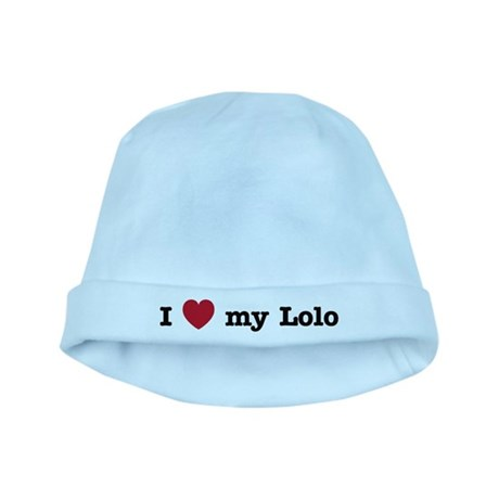 I Love My Lolo baby hat
