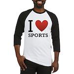 I Love Sports Baseball Jersey