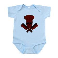 Chef Skull--dark red-- Infant Bodysuit