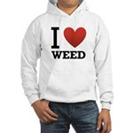 I Love Weed Hooded Sweatshirt