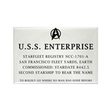 U.S.S. Enterprise Plaque Rectangle Magnet