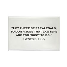 Paralegal / Genesis Rectangle Magnet (10 pack)