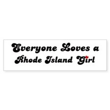 Loves Rhode Island Girl Bumper Bumper Sticker