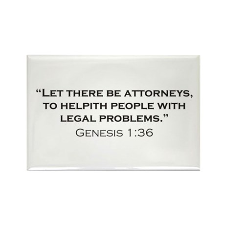 Attorney / Genesis Rectangle Magnet (10 pack)