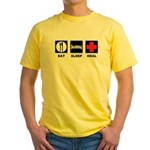 Eat Sleep Heal Yellow T-Shirt