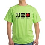 Eat Sleep Heal Green T-Shirt