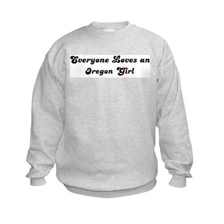 Loves Oregon Girl Kids Sweatshirt